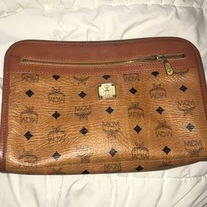 100% Authentic MCM toiletry clutch bag